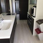 洗面所、お風呂への家事動線もバッチリ(キッチン)